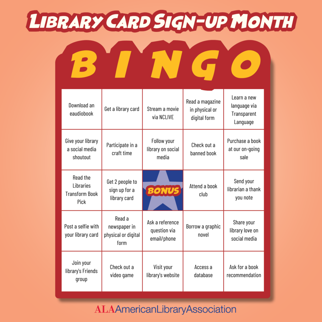 National Library Card Sign-Up Month!